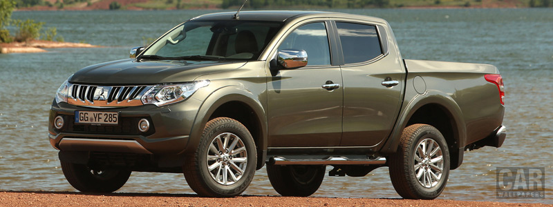 Обои автомобили Mitsubishi L200 Double Cab - 2015 - Car wallpapers