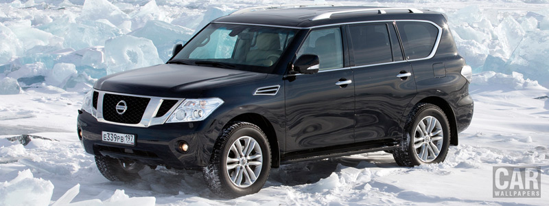 Обои автомобили Nissan Patrol RU-spec - 2012 - Car wallpapers