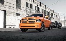 Обои автомобили Ram 1500 Sport Ignition Orange Crew Cab - 2016
