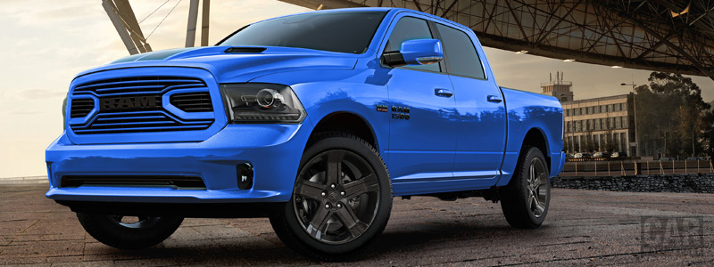 Обои автомобили Ram 1500 Hydro Blue Sport Crew Cab - 2017 - Car wallpapers