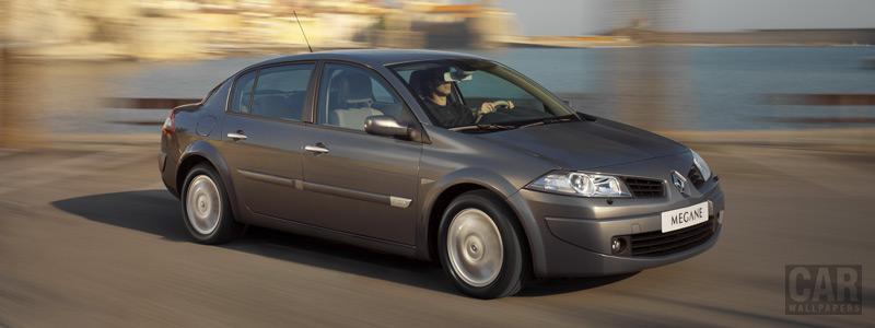 Обои автомобили Renault Megane Saloon - 2005 - Car wallpapers