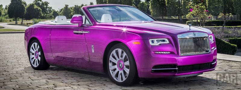 Обои автомобили Rolls-Royce Dawn in Fuxia - 2017 - Car wallpapers
