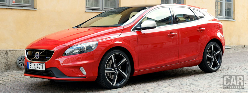 Обои автомобили Volvo V40 T5 R-Design - 2015 - Car wallpapers
