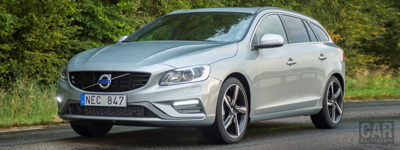 Обои автомобили Volvo V60 T5 R-Design - 2016 - Car wallpapers