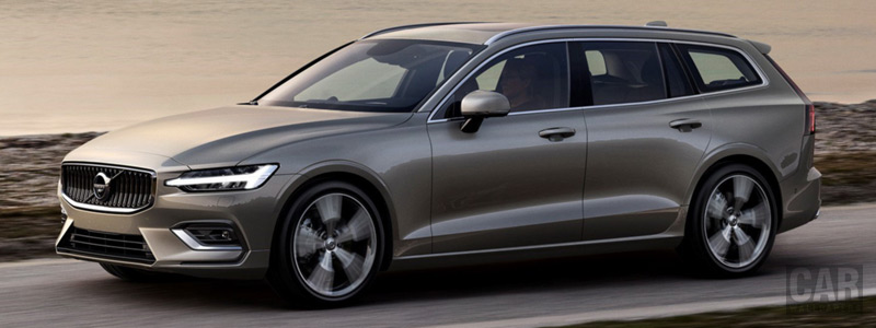Обои автомобили Volvo V60 T6 AWD Inscription - 2018 - Car wallpapers