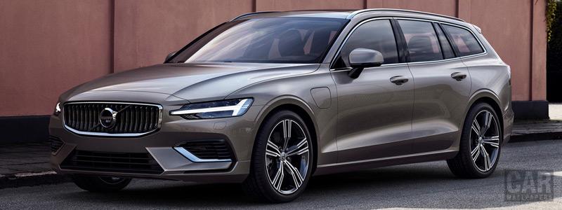 Обои автомобили Volvo V60 T8 Twin Engine AWD Inscription - 2018 - Car wallpapers